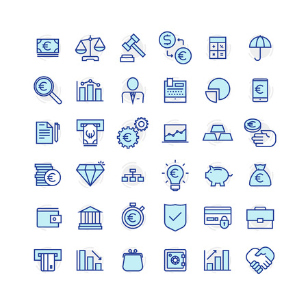 Set of business and finance icons.
