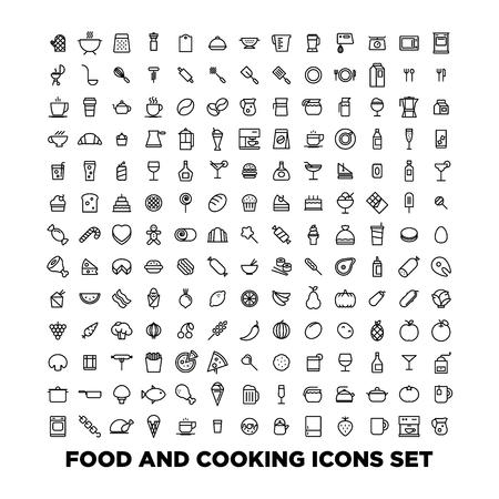 Elegant Food Icons Set
