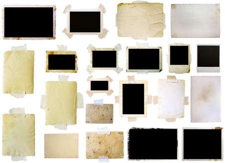 bordure de page: Cadres photo vintage set, grande collection