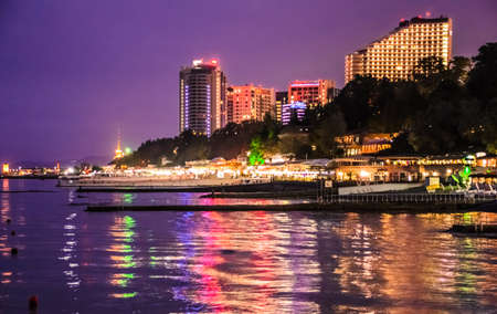 alexandria: Alexandria lighthouse, Hayatt, Sochi at night