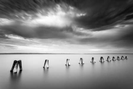 artsy: Neusiedl am See long exposure dramatic artsy shot