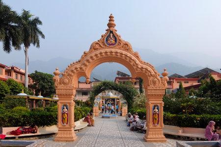 Rishikesh, India - November, 4th, 2017. Beautiful view of Parmarth Niketan Ashram in Rishikesh