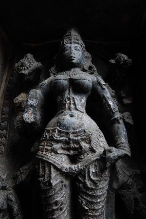 Statue at the gates of Nataraja temple, Chidambaram, Tamil Nadu, South India