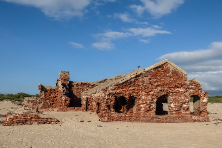 Rameswaram, India - December, 21st, 2016. Ruins of the small village Dhanushkodi Editorial