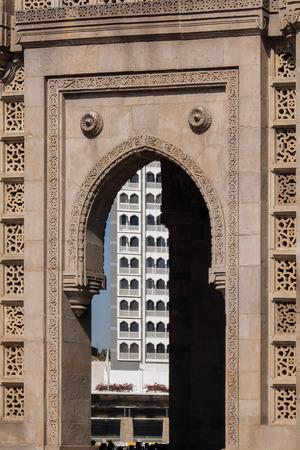 Gates of India, Mumbai. Details of architecture