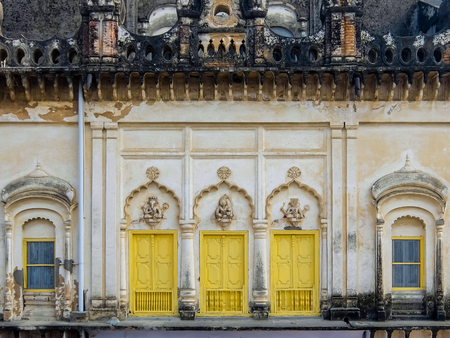 Ayodhya, India - December, 10th, 2017. Architecture of Ayodhya, also known as Saketa, an ancient city of India, believed to be the birthplace of Rama. Editorial