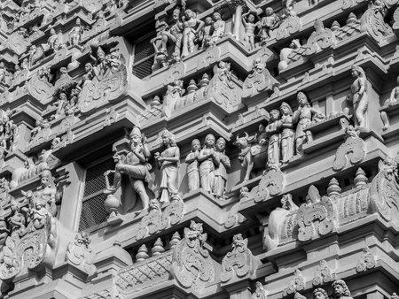 Tiruvannamalai, India - Circa January, 2018. Architecture of Annamalaiyar Temple in Tiruvannamalai, India.