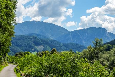 Mountain road in Austria Imagens