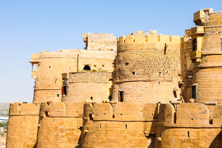 Architecture of  Jaisalmer fort, Rajasthan, India.