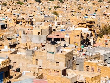 Jaisalmer, India - Circa March, 2018. Beautiful view of Jaisalmer cityscape.