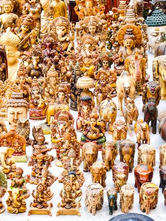 Beautiful handmade souvenirs in the street shop. Jodhpur, India. Stock Photo