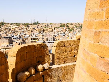 Architecture of  Jaisalmer fort, Rajasthan, India.
