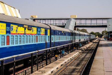 Bikaner, India - Circa March 2018. View of Bikaner railway station.