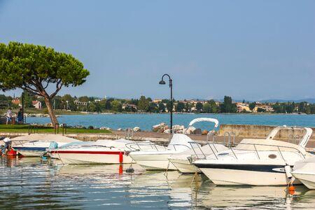 Sunny day in beautiful town Sirmione, located on Garda lake. 写真素材