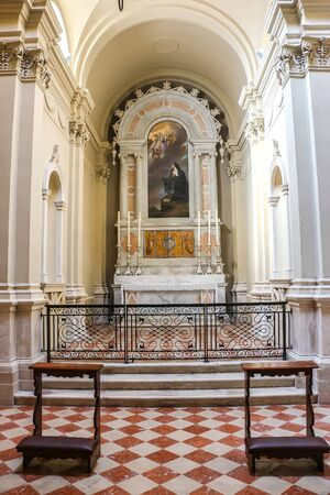 Desenzano del Garda, Italy - Circa September 2018. Interiors of Duomo di Santa Maria Maddalena.