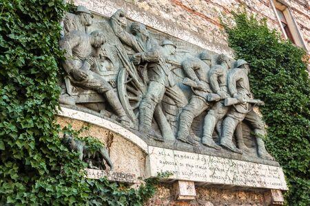 Verona, Italy - Circa September 2018. View of Citadella district wall in Verona. 写真素材