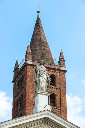 Beautiful architecture of catholic church (Chiesa parrocchiale di Sant'Agata) in Cremona.