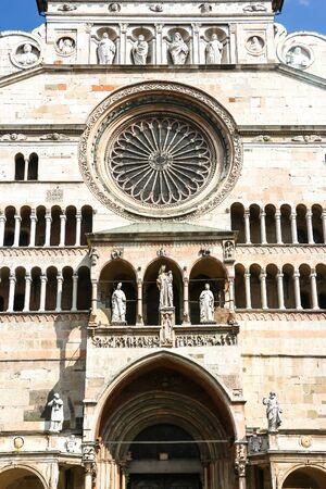 Beautiful architecture of catholic church (Cattedrale di Cremona - Santa Maria Assunta).