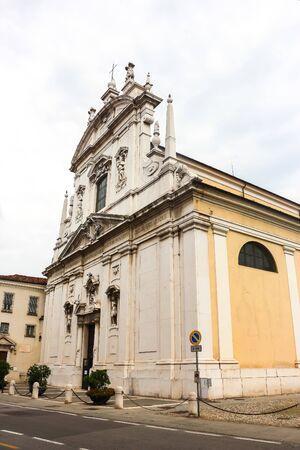 Beautiful architecture of catholic church (Chiesa dei Santi Faustino e Giovita) in Brescia.