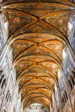 Parma, Italy - Circa September 2018. Interiors of catholic church (Cattedrale di Parma). Editoriali