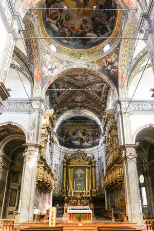 Parma, Italy - Circa September 2018. Interiors of catholic church (Chiesa di San Giovanni Evangelista).