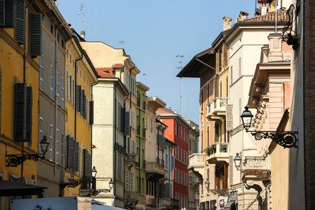 Parma, Italy - Circa September 2018. Beautiful architecture of Parma city centre. Редакционное