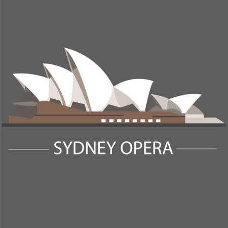 シドニーオペラハウス、あなたのアイデアのためのオーストラリアのベクトル  イラスト・ベクター素材