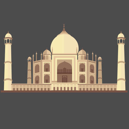 Concept of isolated Taj Mahal in india