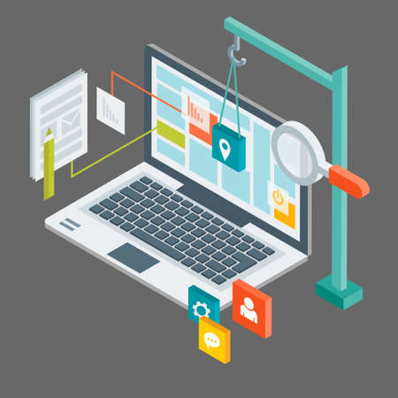 Isometric web design vector for your ideas