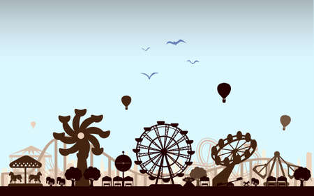 Concept of isolated trendy the Amusement Park Stock Photo