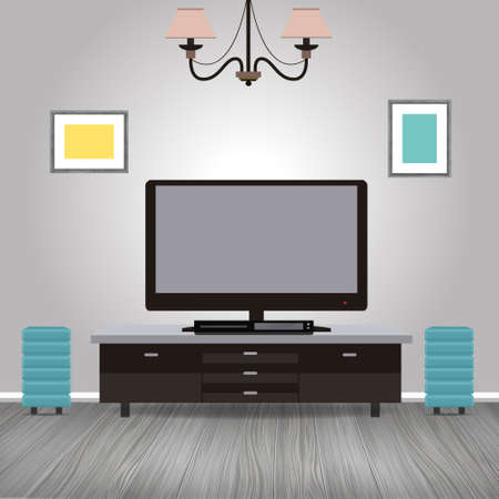 modern interior: Concept of Modern realistic living room vector