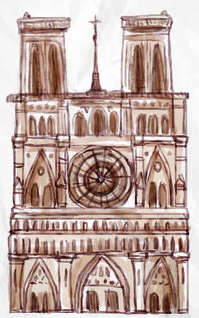 Notre dame Paris vector for your ideas