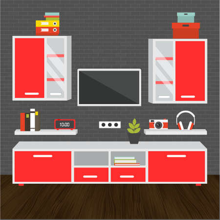 space television: Modern living room vector for your ideas