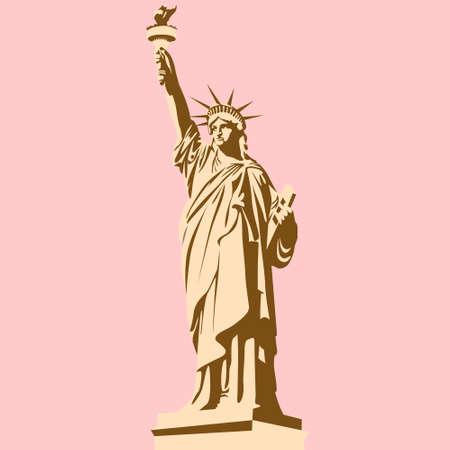 Hand getekend The Statue of Liberty vector Stockfoto