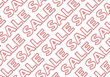 Concept of sale letters background pattern design Stock Photo