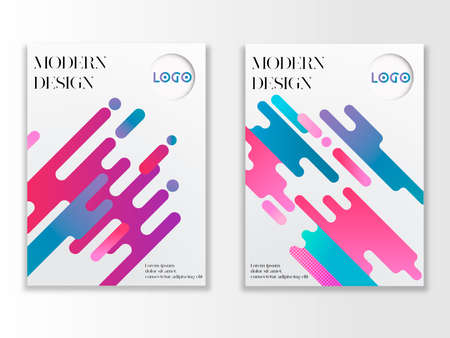 Concept of Abstract Modern Design Poster in two different styles