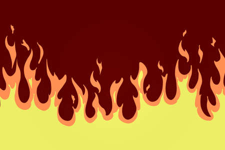 Cartoon fire with texture on brown background