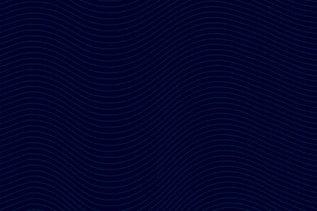 Business card wave lines background with dark blue color vector illustration