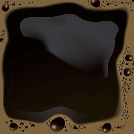Morning cup of coffee background in top view Banco de Imagens - 126897767