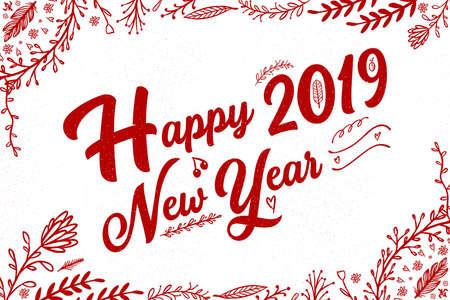Happy New Year card design Vector eps10 illustration Ilustração