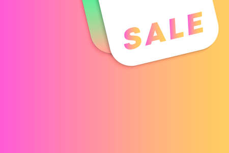 modern gradient concept with price tags on colourful background