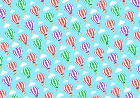 Hot Balloons Cute Pattern Design vector illustration Ilustração
