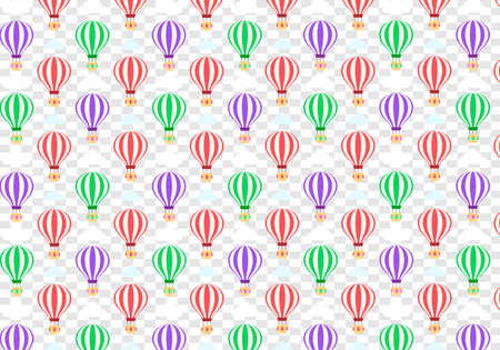 Hot Balloons Cute Pattern Design on transparent background Banco de Imagens - 126857087