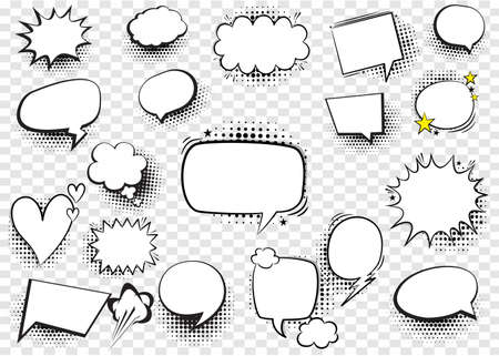 Concept of Speech Bubbles Comic Creator Vector Set