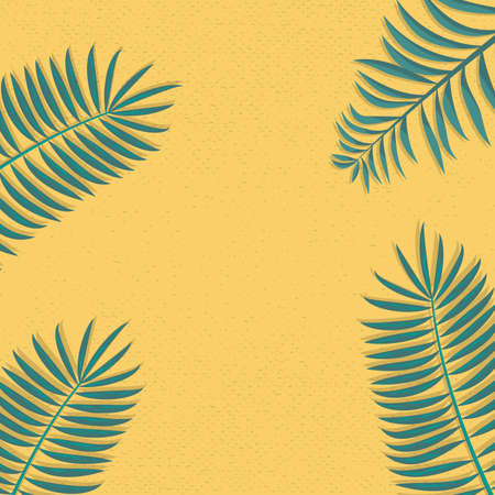 Concept of Trendy and Simple palm leafs