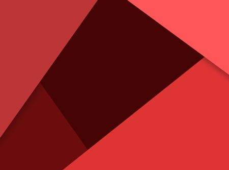paper material: Modern material design template. Material design trendy background. Geometric shapes and natural colors balance. Realistic abstract technology. Red color scheme Stock Photo