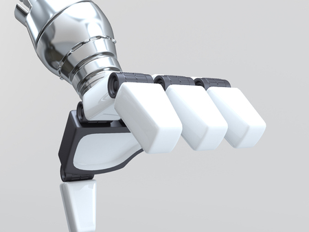 Futuristic design. 2-Wheel Self Balancing Robot. 3D character illustration.