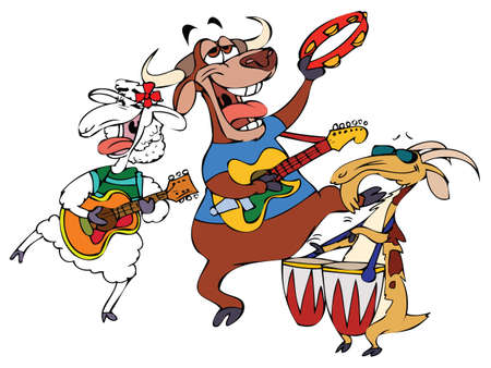 Cartoon Music Band Hornies