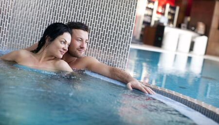 thalasso: Couple relaxing in   spa center