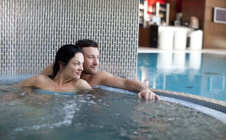 thalasso: Couple relaxing  of spa center Stock Photo